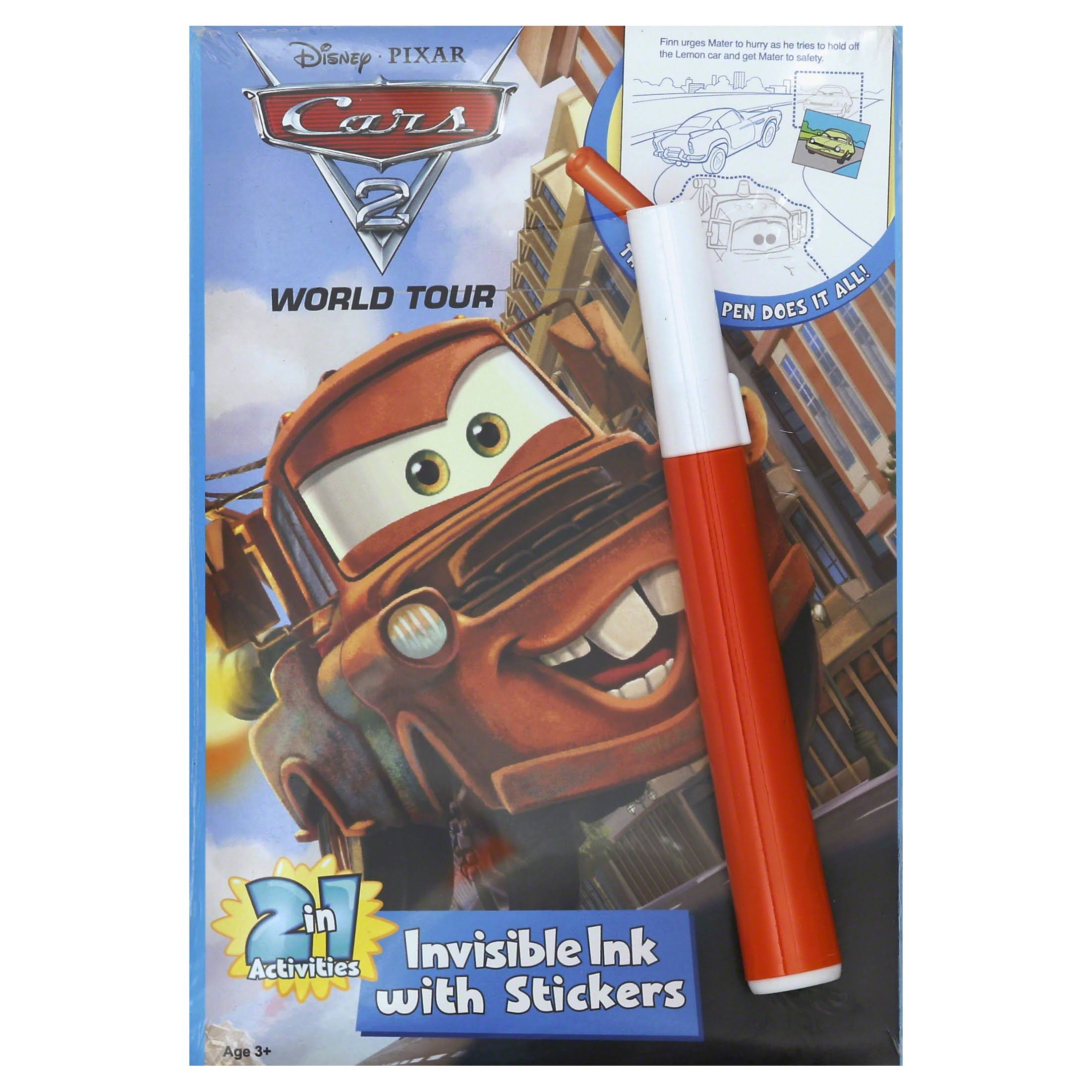 Disney Pixar Cars Invisible Ink Picture & Story Book