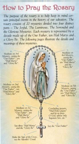 How to Pray the Rosary - Folder Card