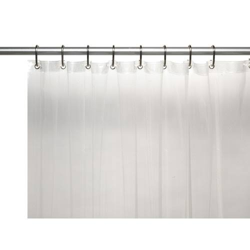Carnation Home Fashions Vinyl Shower Curtain Liner - Super Clear