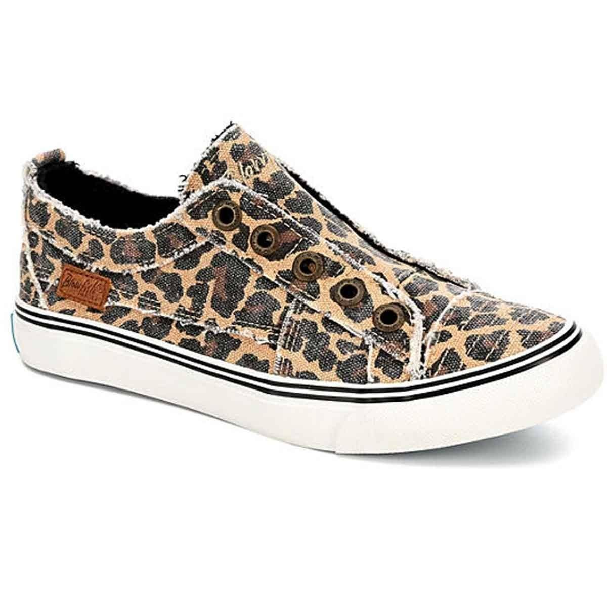 Blowfish Women's Play Slip on Sneakers (Natural Animal) - Size 7.0 M