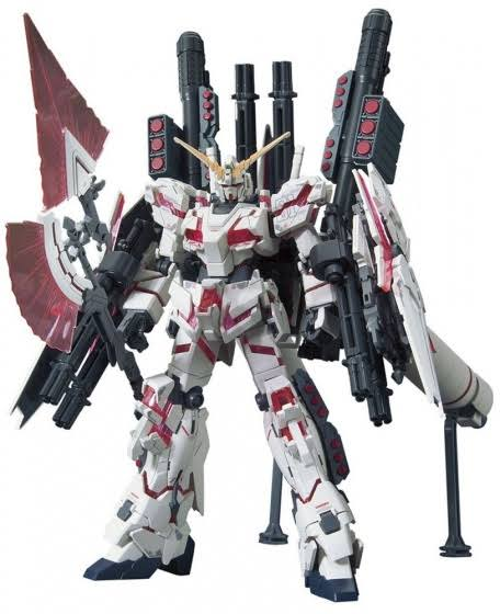 Bandai HGUC Full Armor Unicorn Gundam (Destroy Mode)(Red Color Ver.)