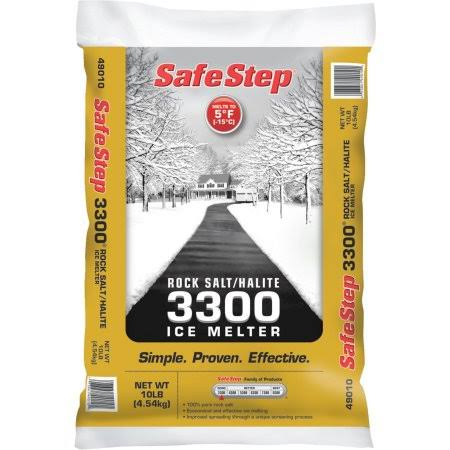 Safe Step Standard 3300 Rock Salt & Halite Ice Melt - 10 lb bag