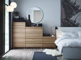 Masculine Bedroom Colors by A Bedroom With Oppland Chest Of Drawers In Oak A Malm Bed In