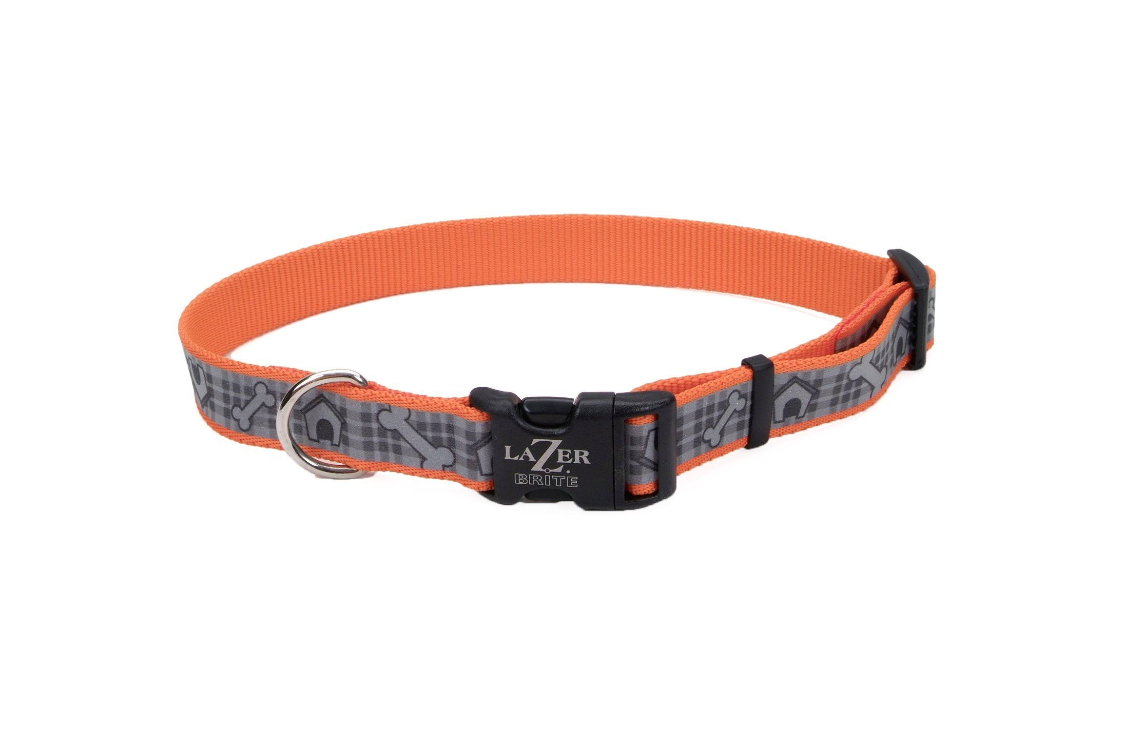 Coastal Pet Lazer Brite Reflective Adjustable Dog Collar - X-Large, Orange