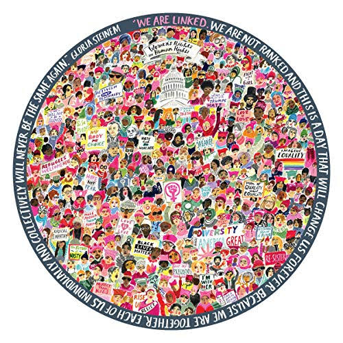 eeBoo Women March! 500 Piece Round Puzzle