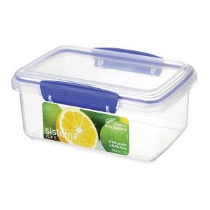 Sistema Klip It Rectangular Food Container - Clear, 1l
