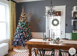 7ft Black Pencil Christmas Tree by A Blue Christmas Inspired By Charm