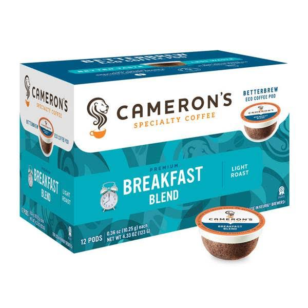Cameron's Breakfast Blend Single Serve Coffees - 12ct