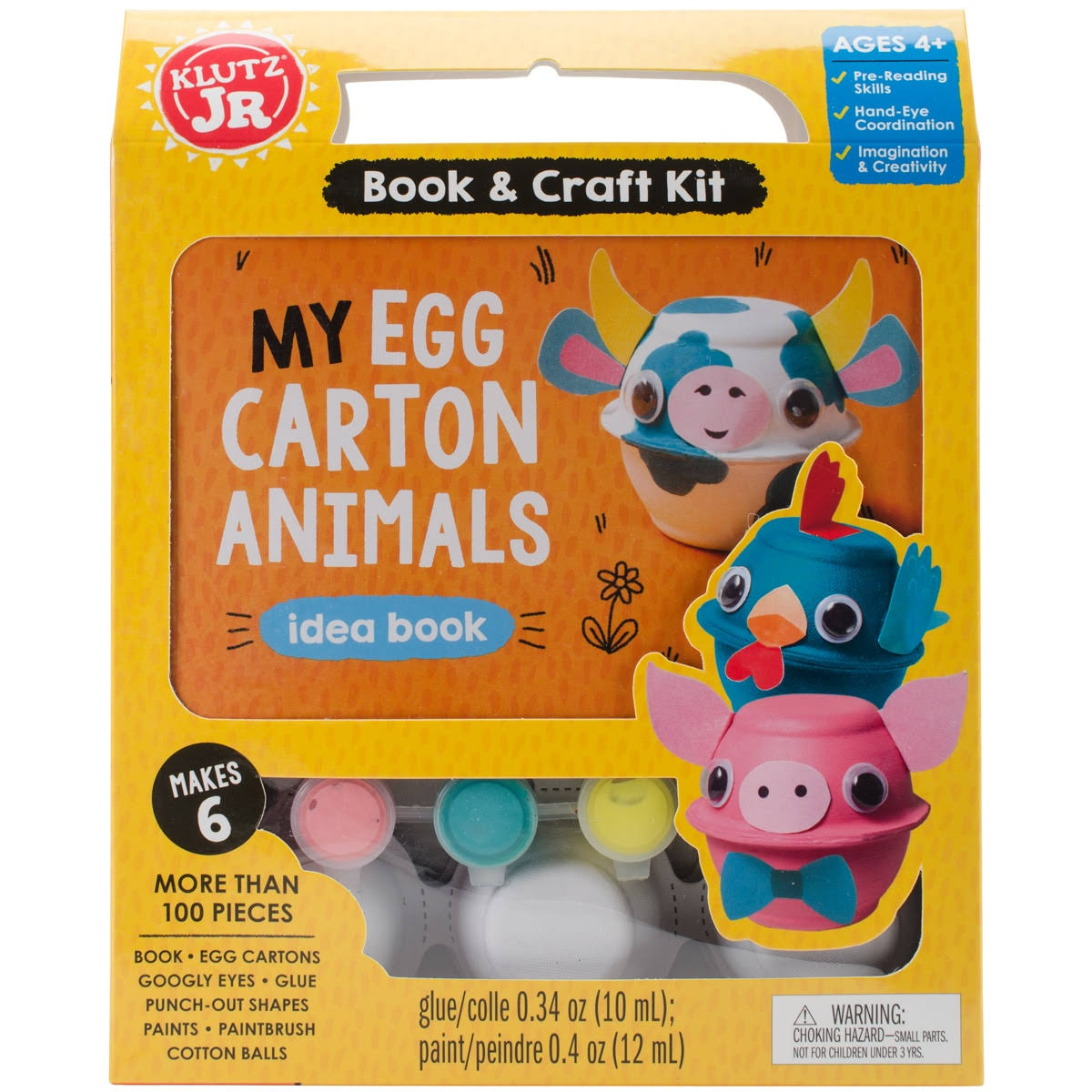 Klutz K593244 My Egg Carton Animals Craft Kit