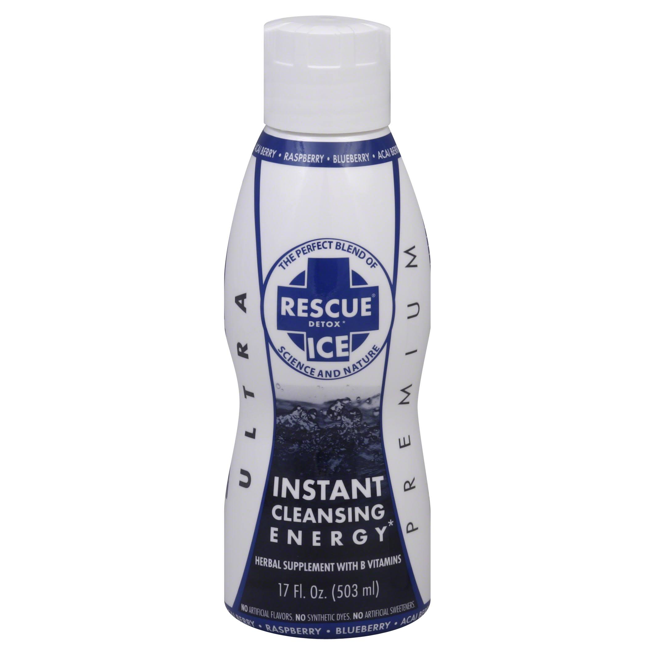 Rescue Ice Ultra Premium Instant Cleansing Energy, Acai Berry, Raspberry, Blueberry - 17 fl oz