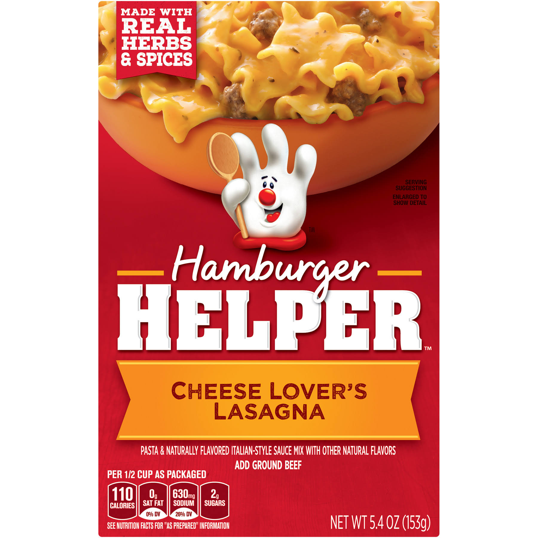 Betty Crocker Hamburger Helper Cheese Lover's Lasagna - 5.4oz
