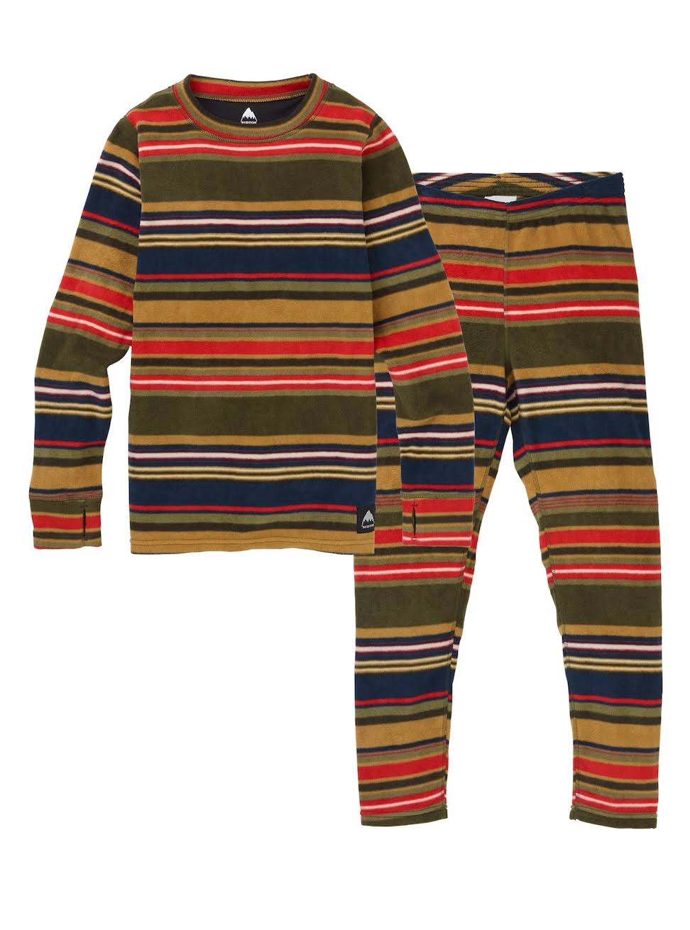 Burton Boys' Kids' Fleece Base Layer Set, Gratz Stripe, M