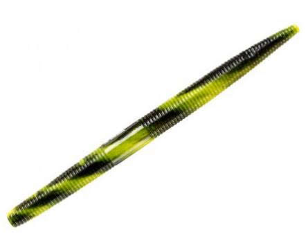 "YUM Dinger Soft Plastic Fishing Worm - Bumblebee Swirl, 5"", Pack of 8"
