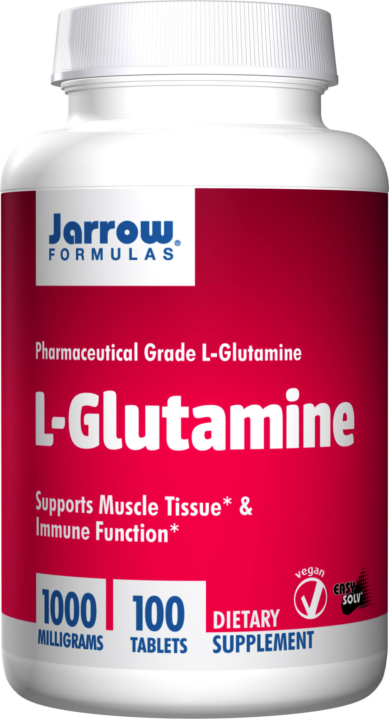 Jarrow Formulas L Glutamine Dietary Supplement - 100 Tablets, 1000mg
