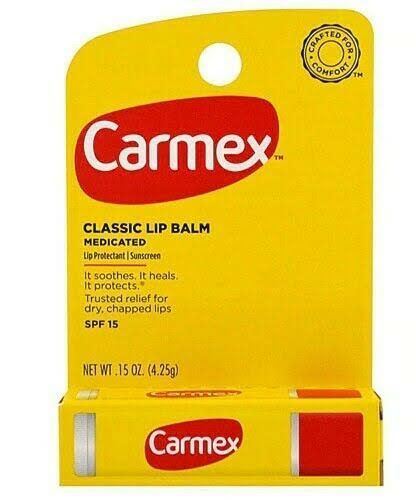 Carmex Medicated Classic Lip Balm - SPF 15, 0.15oz
