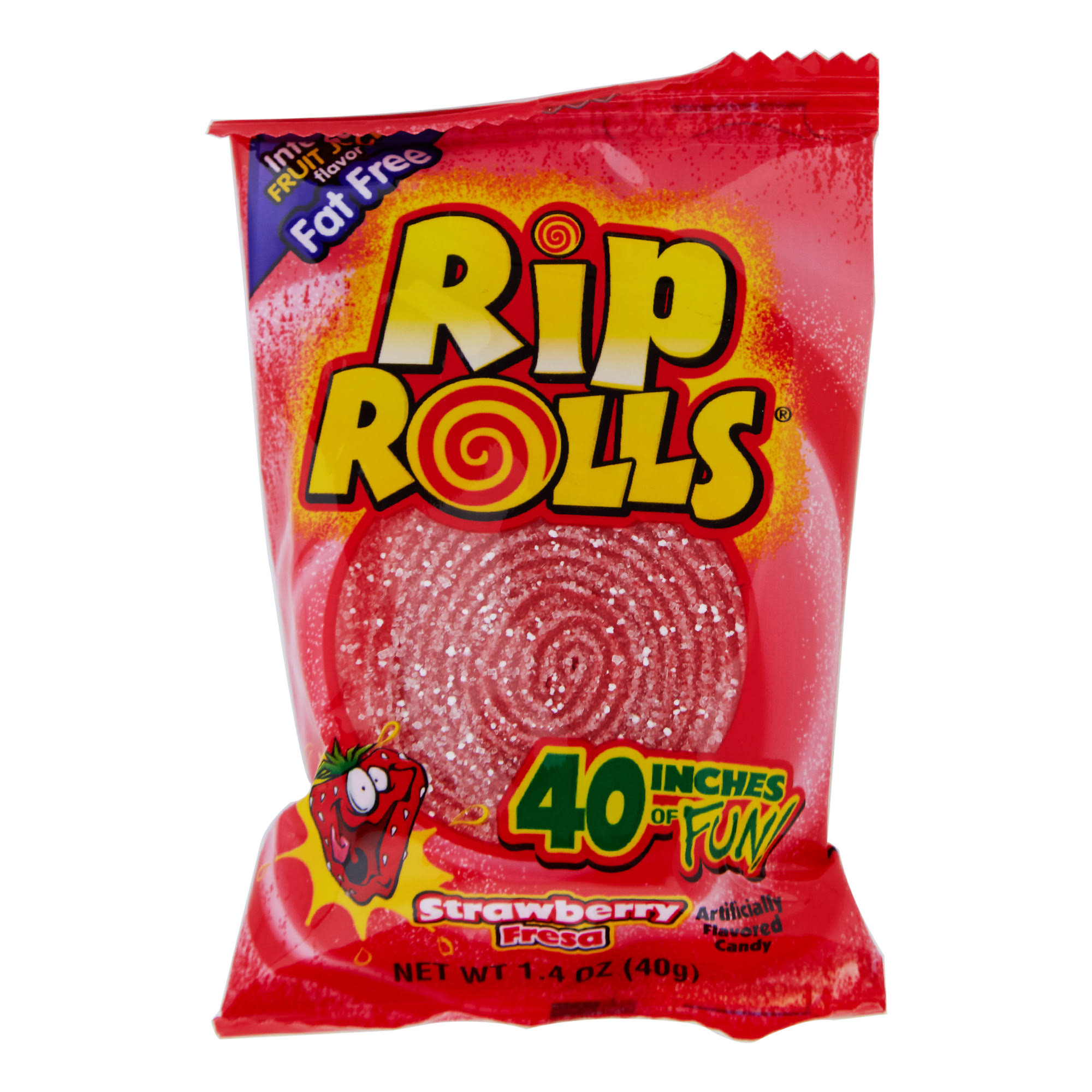 Rip Rolls Candy, Strawberry - 1.4 oz
