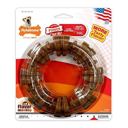 Nylabone Dura Chew Plus Textured Ring Dog Chew Toy - Large