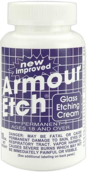 Armour Products Glass Etching Cream - 10oz