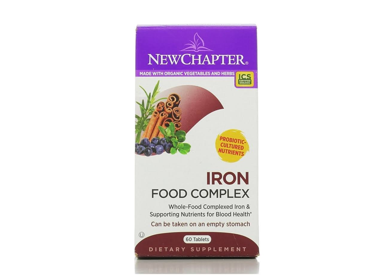 New Chapter Iron Food Complex Supplement - 60 Tablets