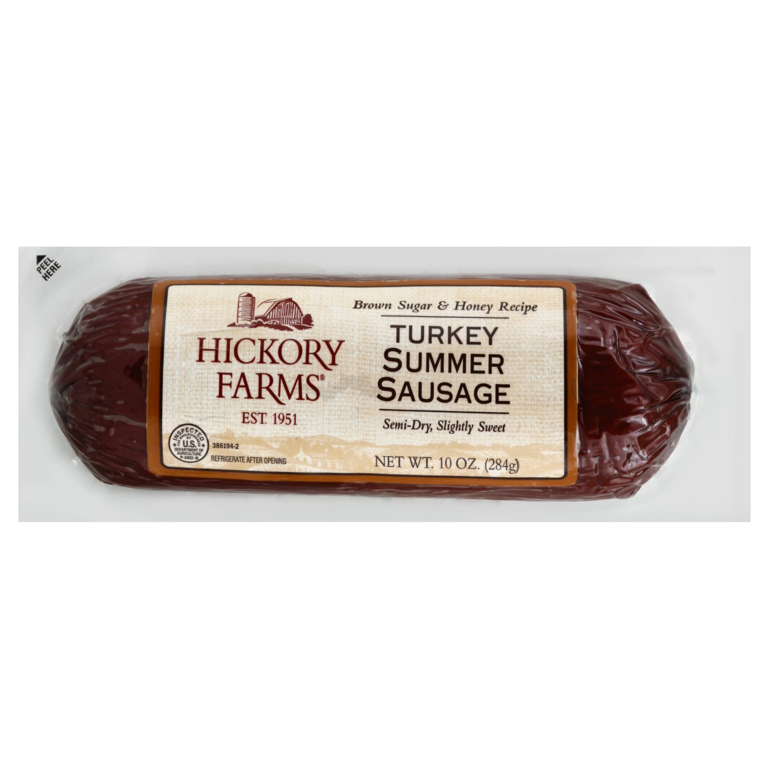 Hickory Farms Summer Sausage, Turkey, Brown Sugar & Honey Recipe - 10 oz