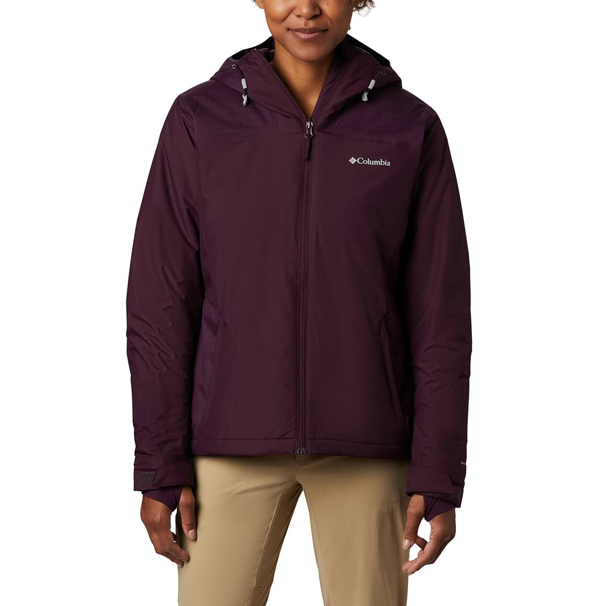 Columbia Women's Tipton Peak Insulated Hooded Jacket - Red