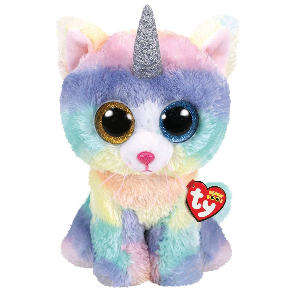 Ty Beanie Boos - Heather The Unicat (Glitter Eyes)(LARGE Size - 17 inch)