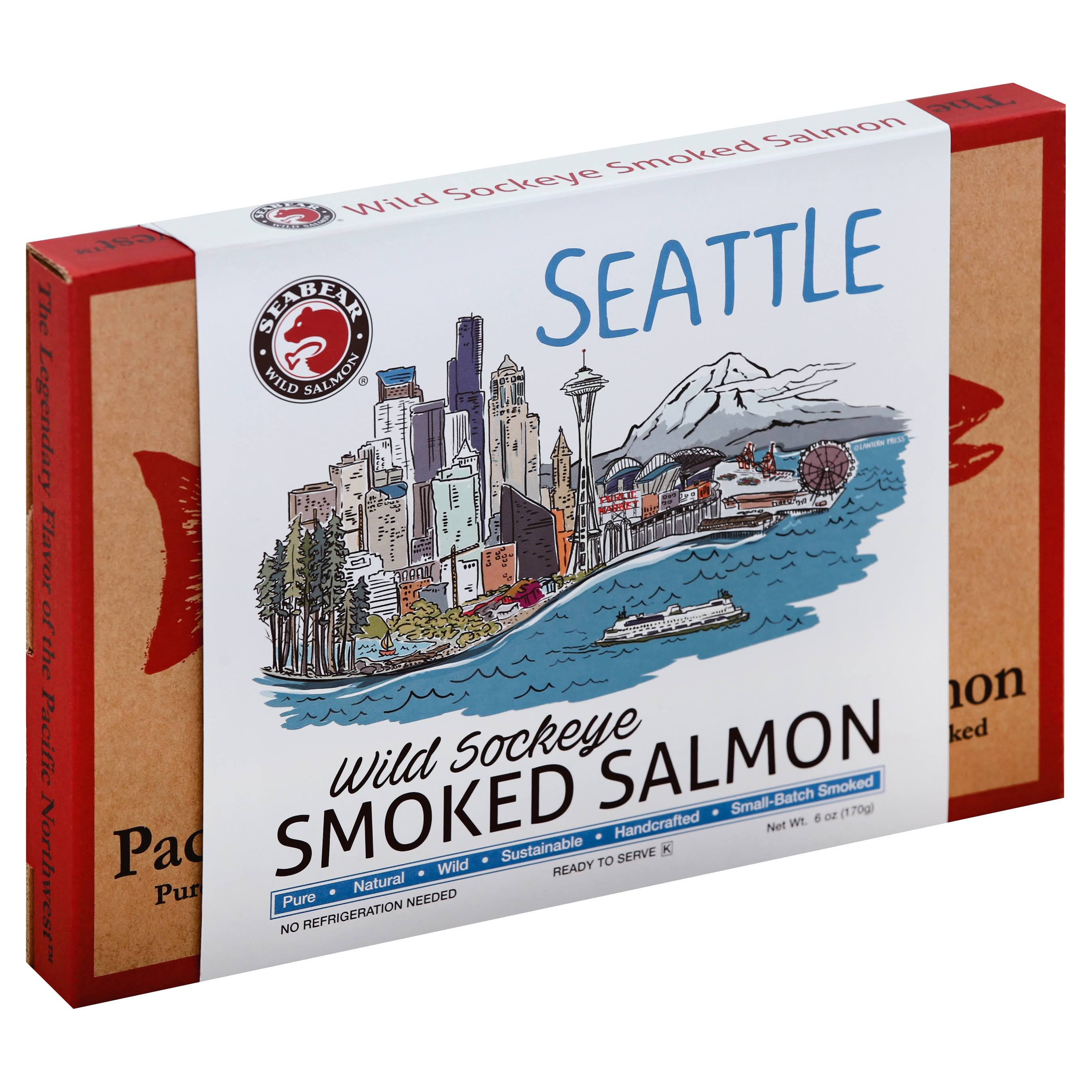 Seabear Seattle Skyline Salmon - Smoked Sockeye, 6oz