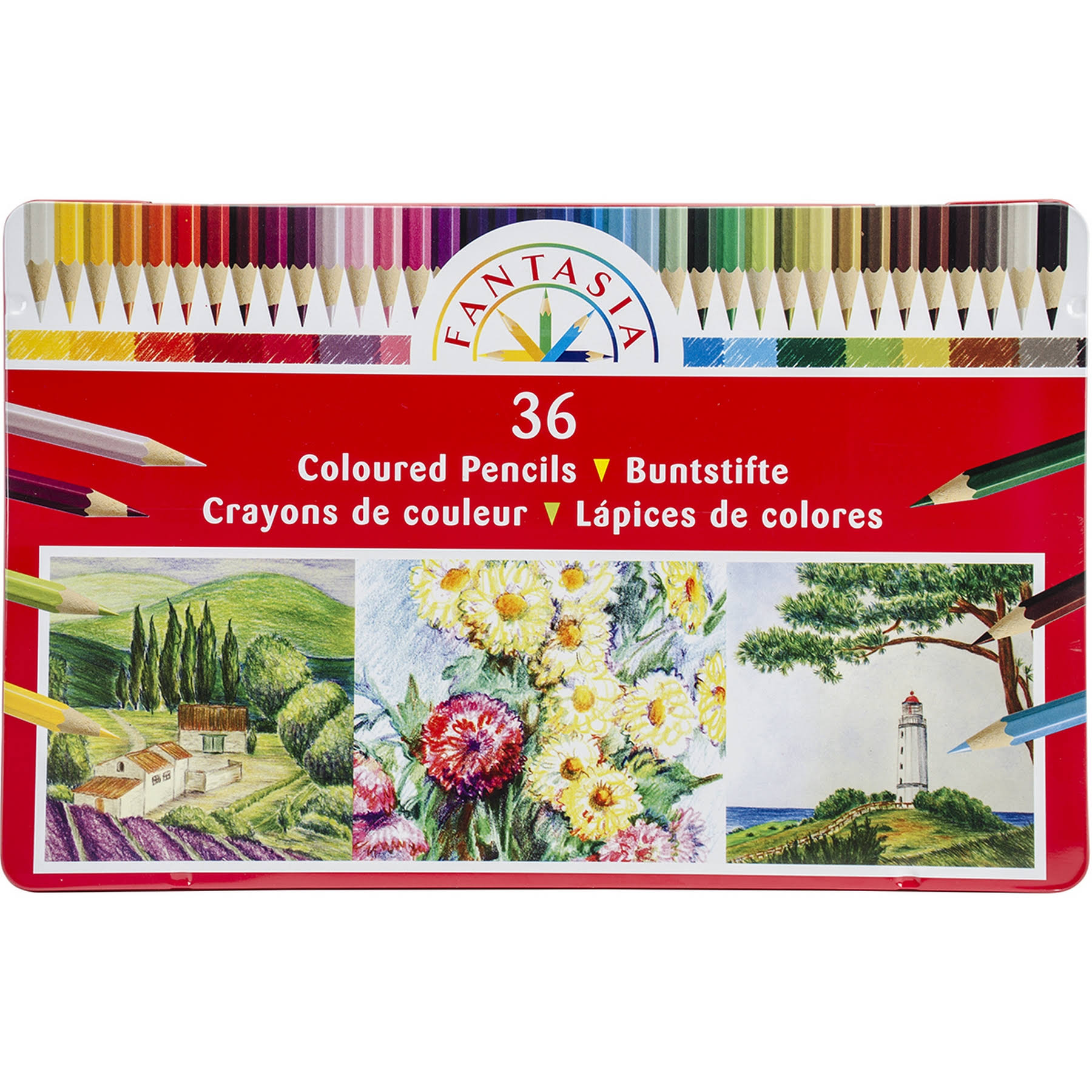 Fantasia Pro Art Colored Pencil Tin Set - 36pcs