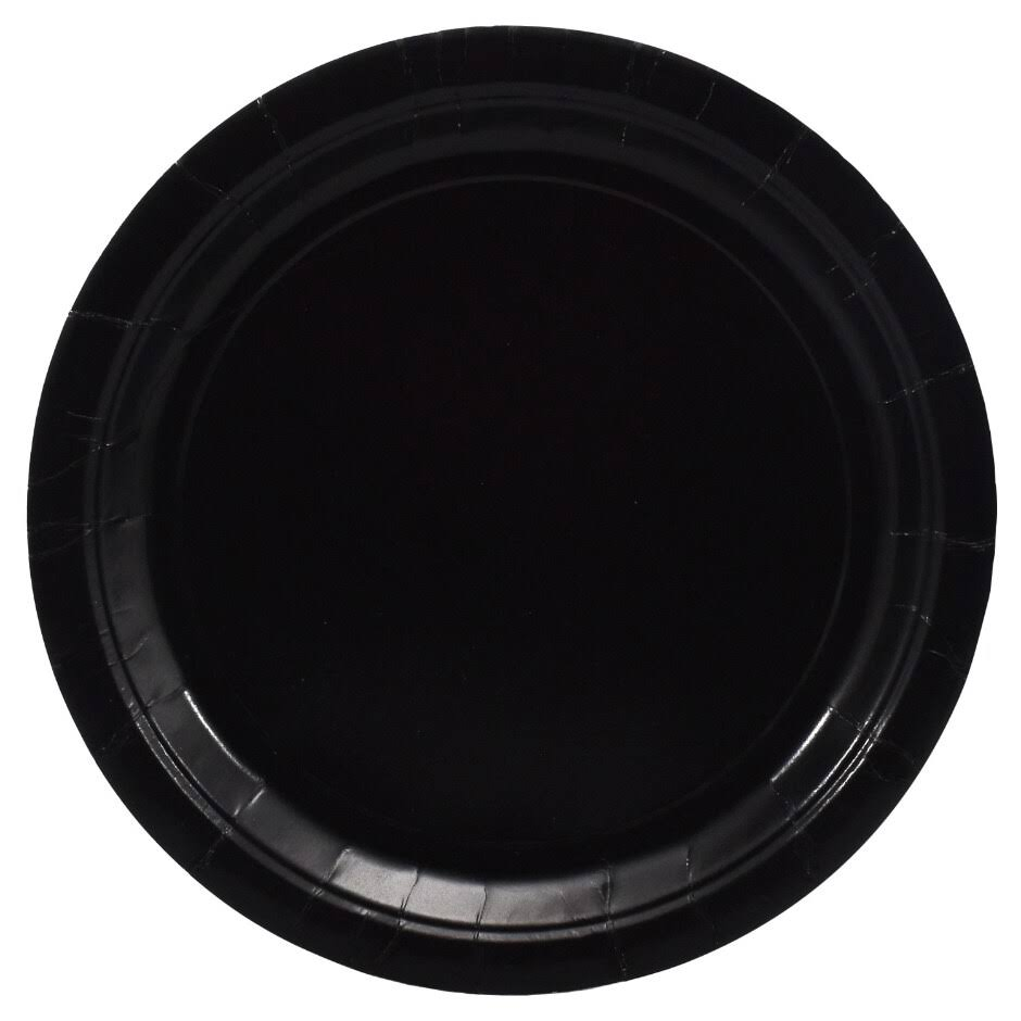 "Party! Black, 9"" Round-20 Count"