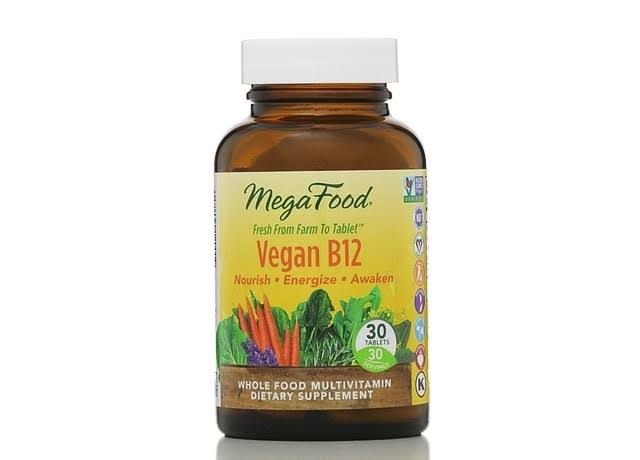 Mega Food Vegan B12 Dietary Supplement - 30 Tablets