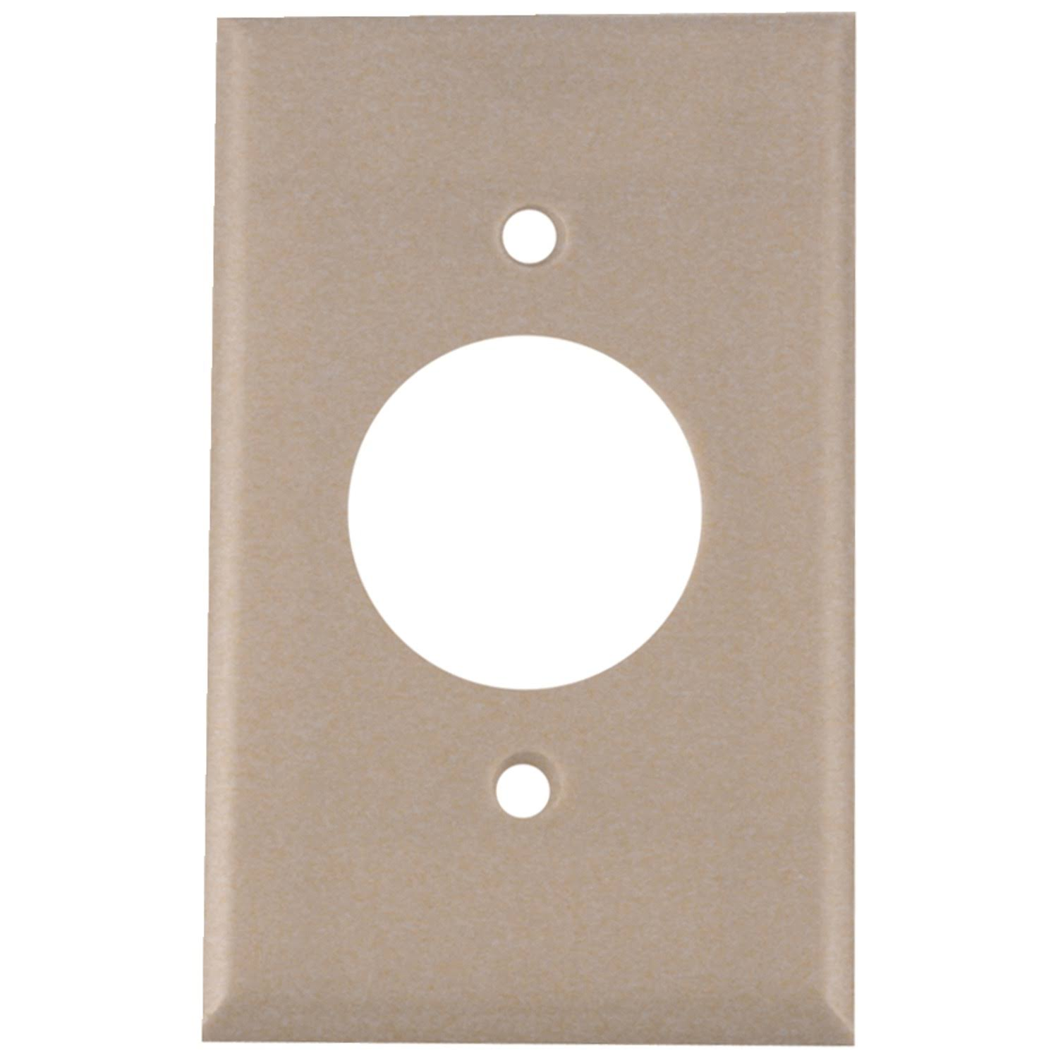 "Leviton G31371 Receptacle Wall Plate Single Outlet Covers - Ivory, 1.406"" 1 Gang"