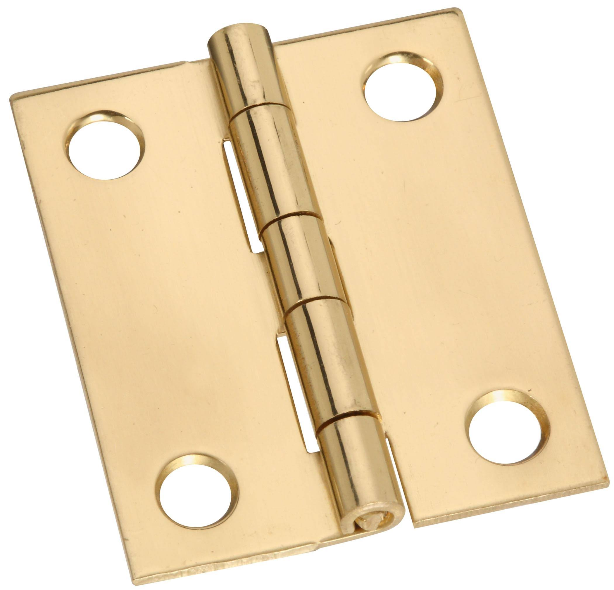 "National Hardware Broad Hinges - 1 1/2"" x 1 1/4"", Brass"
