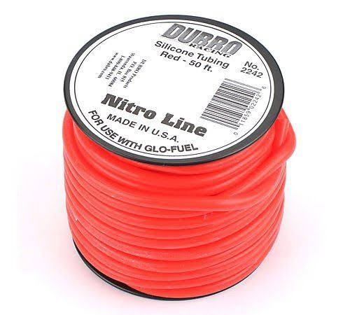 Dubro Nitro Line Fuel Tubing - Red, 50'