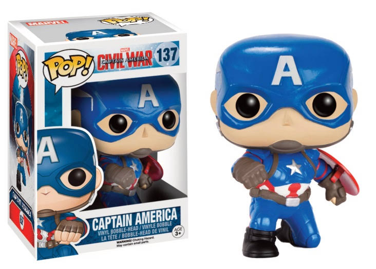 Funko Pop Civil War 137 Captain America