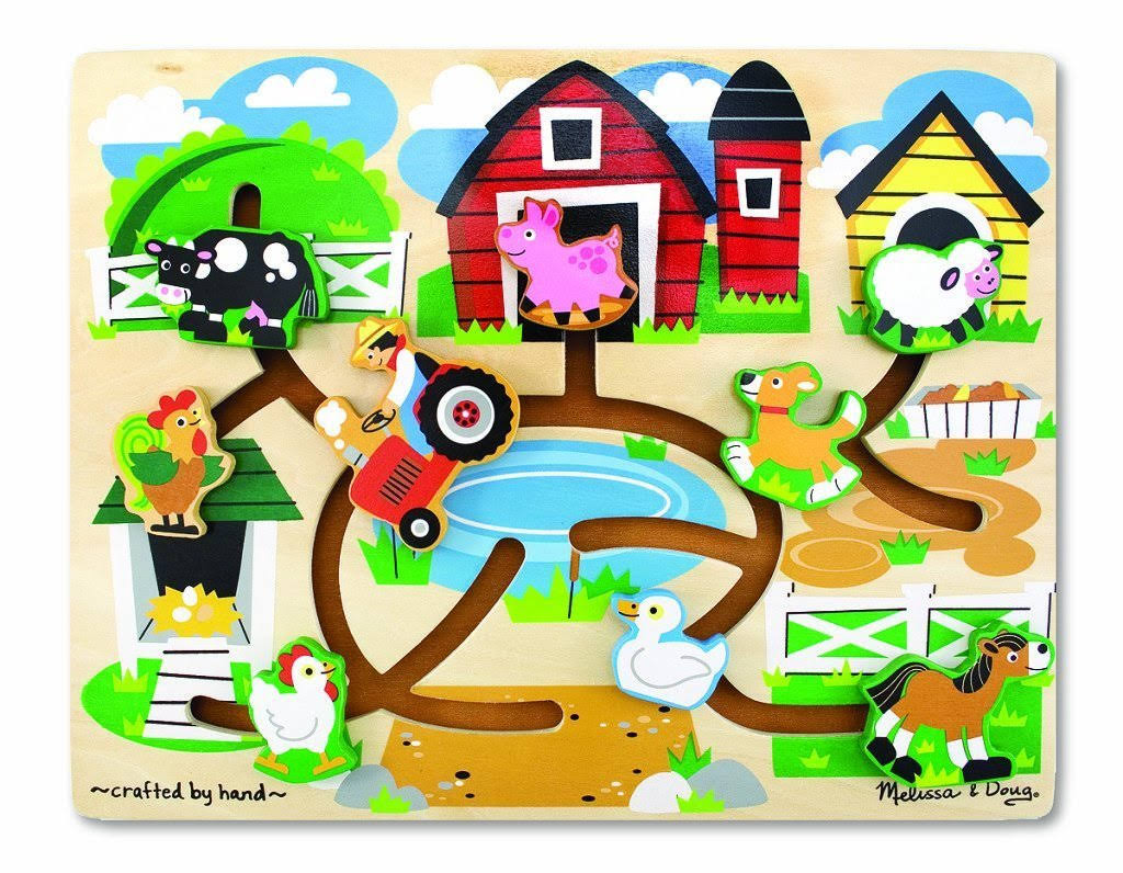 Melissa and Doug Farm Maze Wooden Puzzle