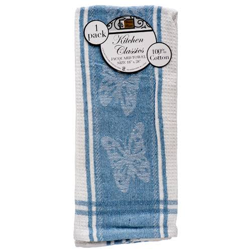 Better Home Set of 4 Cotton Terry Kitchen Towels, Blue