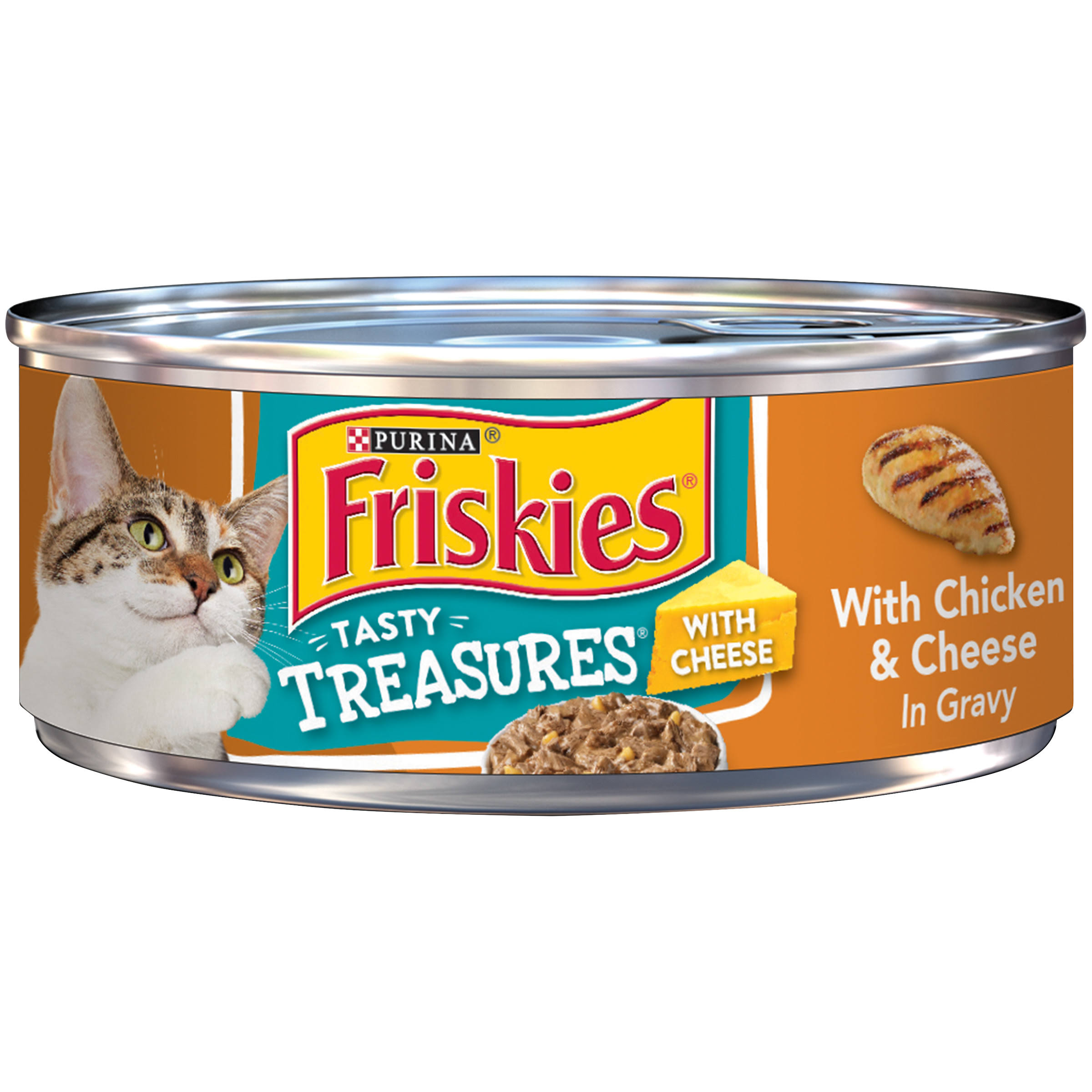 Purina Friskies Cat Food Tasty Treasures with Chicken & Cheese