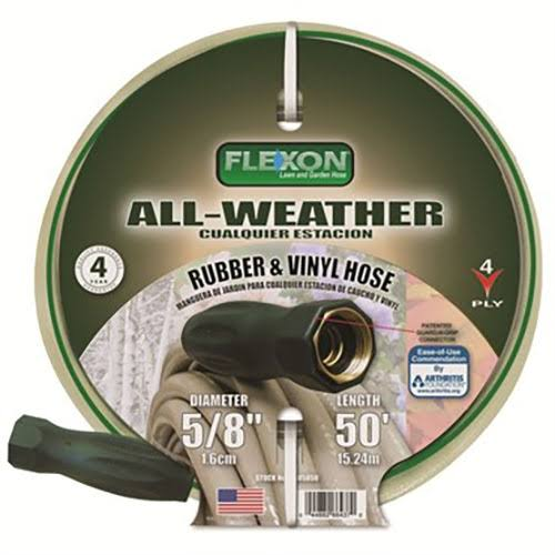 Flexon All Weather Garden Hose - 5/8in x 50ft