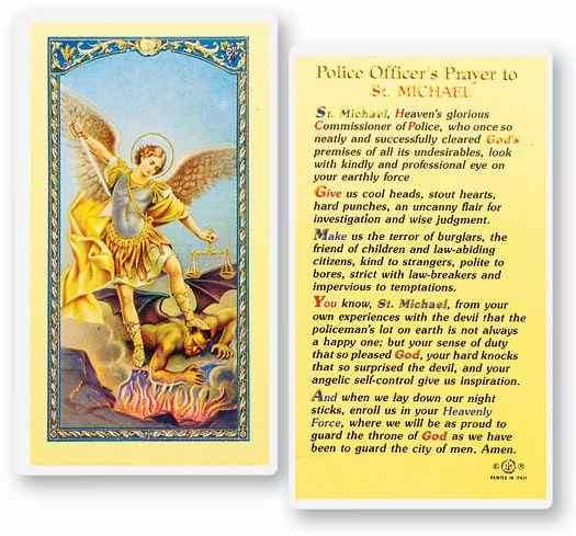 Stealstreet SS-Wjh-E24-334 Officer's Prayer to Saint Michael Holy Cards
