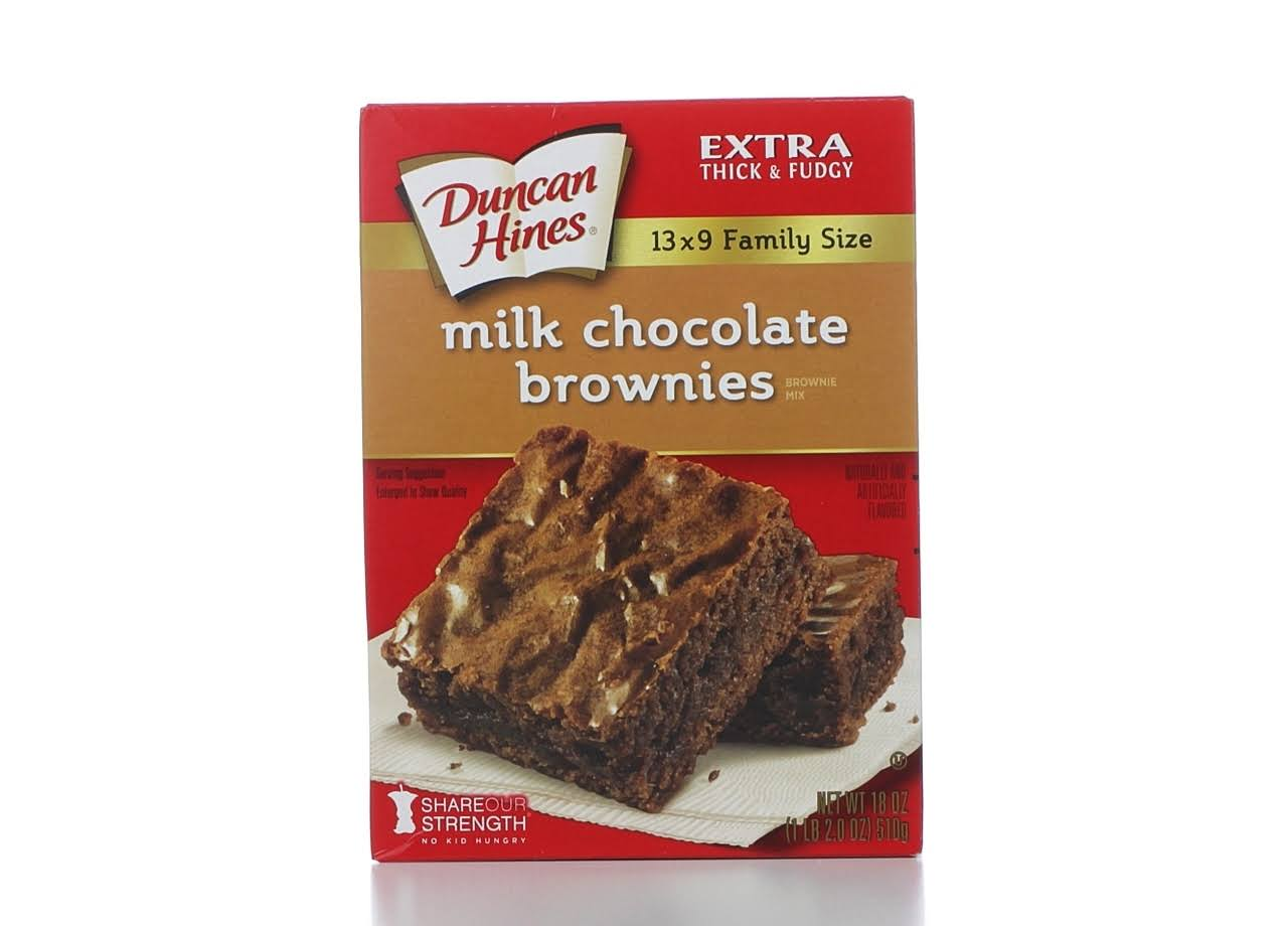Duncan Hines Milk Chocolate Brownie Mix - Family Size, 18oz