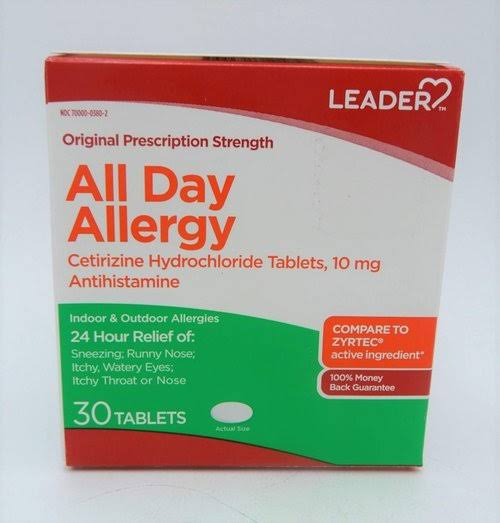 Leader All Day Allergy, Original Prescription Strength, Tablets - 30 tablets