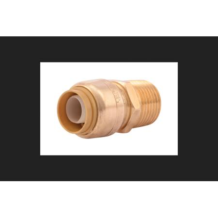 "Sharkbite Push To Connect Male Adapter - Brass, 1/2""x1/2"", 4pk"