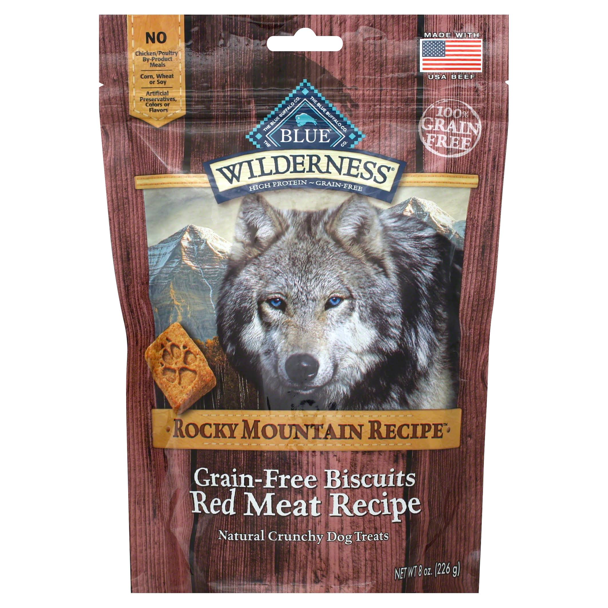 Blue Wilderness Rocky Mountain Recipe Dog Biscuits - Red Meat