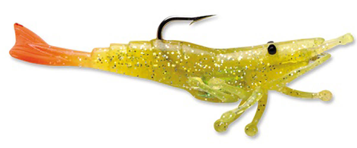 Storm Wildeye Live Shrimp Lure - 1/4 Chartreuse Silver Fire Tail