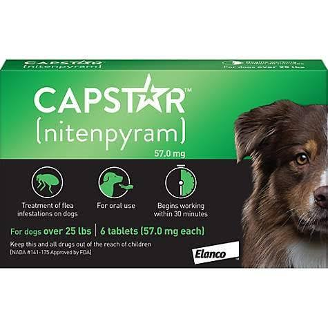 Capstar Flea Tablets for Dogs Over 25lbs, 6 Count