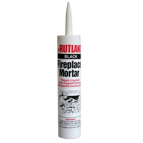 Rutland Products Fireplace Mortar - 10.3oz, Black