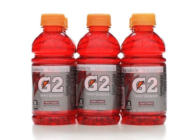 Gatorade G2 Series Electrolyte Beverage - Fruit Punch, 12oz, 6pk