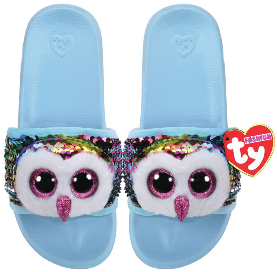 Ty Plush Slush Owen Owl Sequin Slides