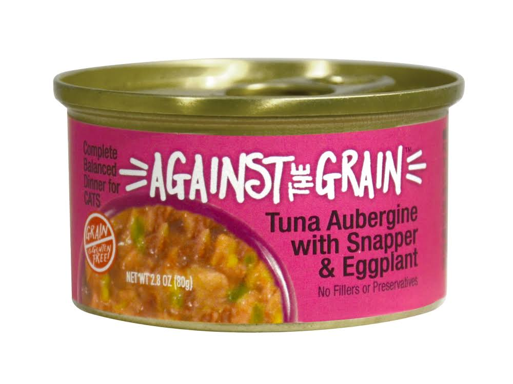 Against The Grain Farmers Market Grain Free Tuna Aubergine with Snapper & Eggplant Canned Cat Food - 2.8, Case of 24