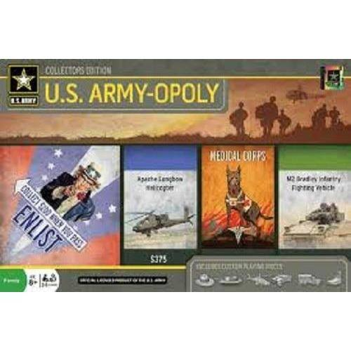 Masterpieces Army Opoly Board Game